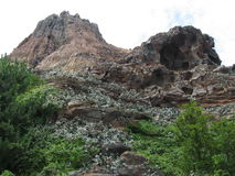 γεωλογικός βράχος σχημ&alp Στοκ Εικόνες