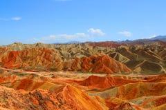 Γεωλογικό πάρκο Danxia, Zhangye, επαρχία Gansu, Κίνα στοκ εικόνες με δικαίωμα ελεύθερης χρήσης