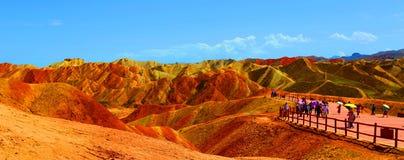 Γεωλογικό πάρκο Danxia, Zhangye, επαρχία Gansu, Κίνα στοκ εικόνα