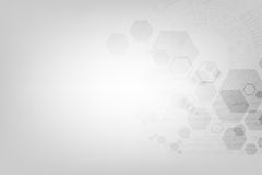 Γεωμετρία στην έννοια τεχνολογίας σε ένα γκρίζο υπόβαθρο Στοκ Εικόνες