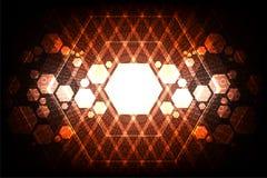 Γεωμετρία στην έννοια τεχνολογίας Στοκ φωτογραφία με δικαίωμα ελεύθερης χρήσης