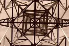 Γεωμετρία υψηλής τάσης Στοκ Εικόνες