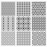 Γεωμετρικά άνευ ραφής σχέδια διακοσμήσεων σε γραπτό Απεικόνιση αποθεμάτων