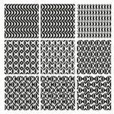 Γεωμετρικά άνευ ραφής σχέδια διακοσμήσεων σε γραπτό Διανυσματική απεικόνιση