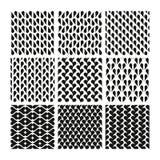 Γεωμετρικά άνευ ραφής σχέδια στο Μαύρο Απεικόνιση αποθεμάτων