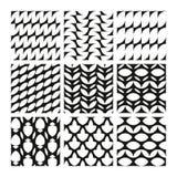Γεωμετρικά άνευ ραφής σχέδια στο Μαύρο Διανυσματική απεικόνιση