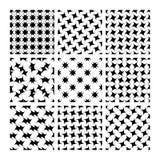 Γεωμετρικά άνευ ραφής σχέδια στο Μαύρο Ελεύθερη απεικόνιση δικαιώματος