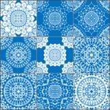 Γεωμετρικά άνευ ραφής σχέδια κεραμιδιών καθορισμένα Στοκ Εικόνες
