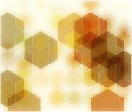 Γεωμετρικά αφηρημένα διανυσματικά καφετιά υπόβαθρα με Hexagon, το σχέδιο ζωηρόχρωμο σε κατάλληλο για την τυπωμένη ύλη, την ταπετσ Στοκ Εικόνες