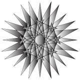 Γεωμετρικά καθορισμένα αστέρια και λουλούδια για το σχέδιο διανυσματικό EPS10 δώρων και διακοπών Στοκ φωτογραφία με δικαίωμα ελεύθερης χρήσης