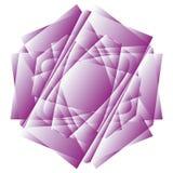 Γεωμετρικά καθορισμένα αστέρια και λουλούδια για το σχέδιο διανυσματικό EPS10 δώρων και διακοπών Στοκ εικόνες με δικαίωμα ελεύθερης χρήσης