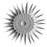 Γεωμετρικά καθορισμένα αστέρια και λουλούδια για το σχέδιο διανυσματικό EPS10 δώρων και διακοπών Στοκ εικόνα με δικαίωμα ελεύθερης χρήσης