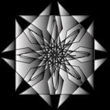 Γεωμετρικά καθορισμένα αστέρια και λουλούδια για το σχέδιο διανυσματικό EPS10 δώρων και διακοπών Στοκ Εικόνες