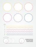 Γεωμετρικά κύματα και στρογγυλές μορφές Στοκ εικόνα με δικαίωμα ελεύθερης χρήσης