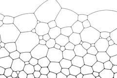 Γεωμετρικά κύτταρα που διαμορφώνονται από τις φυσαλίδες και το νερό σαπουνιών απεικόνιση αποθεμάτων