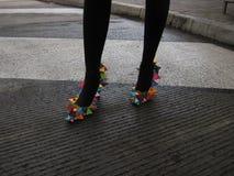 Γεωμετρικά παπούτσια Στοκ Φωτογραφίες