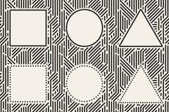 Γεωμετρικά πλαίσια καθορισμένα Στοκ φωτογραφίες με δικαίωμα ελεύθερης χρήσης