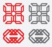 Γεωμετρικά στοιχεία σχεδίου λογότυπων Στοκ Εικόνες