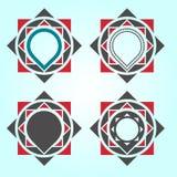 Γεωμετρικά στοιχεία σχεδίου λογότυπων Στοκ φωτογραφία με δικαίωμα ελεύθερης χρήσης