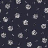 Γεωμετρικά συρμένα χέρι σημεία και τρίγωνα Πόλκα Στοκ Εικόνες