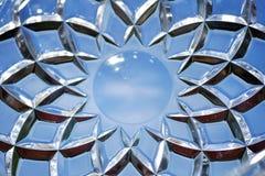 Γεωμετρικά σχέδια στο γυαλί Στοκ φωτογραφία με δικαίωμα ελεύθερης χρήσης