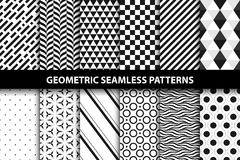 Γεωμετρικά σχέδια - διανυσματική άνευ ραφής συλλογή Στοκ Εικόνες
