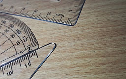 Γεωμετρικά όργανα Στοκ Φωτογραφία