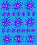 Γεωμετρικά Snowflakes σε Aqua Στοκ Εικόνες