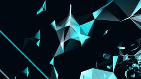 Γεωμετρικές αφαίρεση και κίνηση των μορίων και των τριγώνων απόθεμα βίντεο