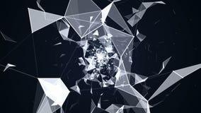 Γεωμετρικές αφαίρεση και κίνηση των μορίων απεικόνιση αποθεμάτων
