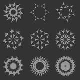 Γεωμετρικές αφηρημένες νιφάδες σχεδίων Στοκ φωτογραφία με δικαίωμα ελεύθερης χρήσης