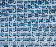 Γεωμετρικές εξωτερικές συστάσεις - μπλε περίληψη στοκ εικόνα
