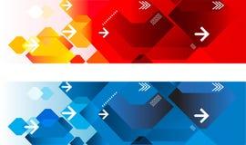 Γεωμετρικές επικεφαλίδες Ιστού Στοκ εικόνα με δικαίωμα ελεύθερης χρήσης