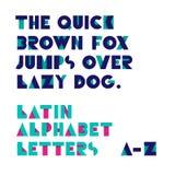 Γεωμετρικές επιστολές αλφάβητου μορφών τύπος χαρακτήρων αναδρομικός Στοκ φωτογραφία με δικαίωμα ελεύθερης χρήσης