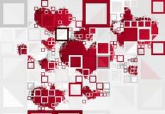 Γεωμετρικές καρδιές μωσαϊκών Στοκ φωτογραφία με δικαίωμα ελεύθερης χρήσης