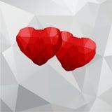 Γεωμετρικές καρδιές Στοκ Εικόνα