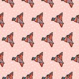 Γεωμετρικές μορφές γραμμών αφηρημένο σχέδιο πουλιών &alpha στοκ εικόνα
