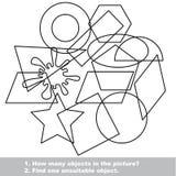 Γεωμετρικές μορφές καθορισμένες mishmash Στοκ εικόνες με δικαίωμα ελεύθερης χρήσης