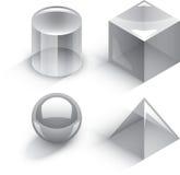 Γεωμετρικές τρισδιάστατες μορφές Στοκ Εικόνες
