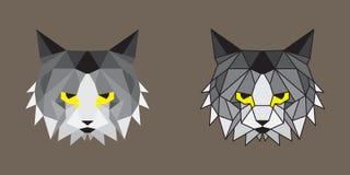 Γεωμετρικές χαμηλές πολυ γάτες Στοκ Φωτογραφίες