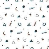 Γεωμετρική άνευ ραφής ανασκόπηση προτύπων Τέχνη της Μέμφιδας Στοκ εικόνα με δικαίωμα ελεύθερης χρήσης
