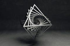 Γεωμετρική έννοια τέχνης Στοκ φωτογραφία με δικαίωμα ελεύθερης χρήσης