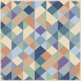 Γεωμετρική αναδρομική ανασκόπηση στα χρώματα κρητιδογραφιών Στοκ Φωτογραφία