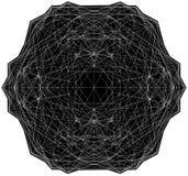 Γεωμετρική απεικόνιση κατασκευών δομών γραμμών καλωδίων Στοκ φωτογραφίες με δικαίωμα ελεύθερης χρήσης