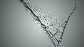 Γεωμετρική αφαίρεση από τις γραμμές και τα σημεία 4K φιλμ μικρού μήκους