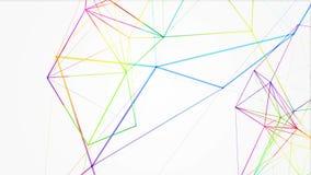 Γεωμετρική αφαίρεση στο άσπρο υπόβαθρο φιλμ μικρού μήκους
