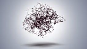 Γεωμετρική αφαίρεση στο υπόβαθρο κεκλιμένων ραμπών, 4k βίντεο διανυσματική απεικόνιση