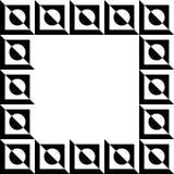 Γεωμετρική εικόνα, πλαίσιο φωτογραφιών με το σχήμα squarish απεικόνιση αποθεμάτων