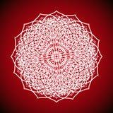 Γεωμετρική εικόνα mandala στο κόκκινο υπόβαθρο Στοκ Εικόνες