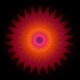 Γεωμετρική διακοσμητική διακόσμηση στη μορφή αστεριών απεικόνιση αποθεμάτων